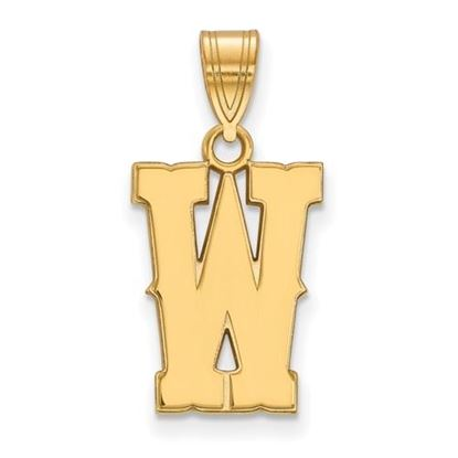 Picture of University of Wyoming Cowboys Sterling Silver Gold Plated Medium Pendant