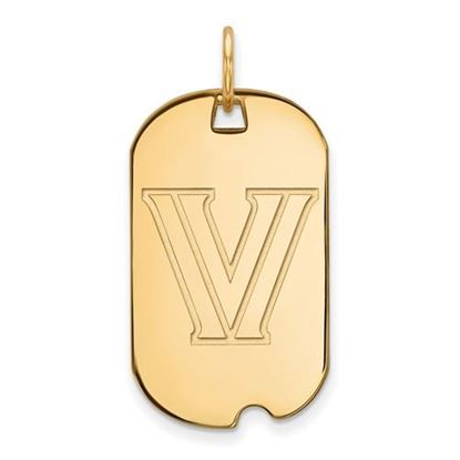 Picture of Villanova University Wildcats Sterling Silver Gold Plated Small Dog Tag