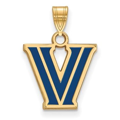 Picture of Villanova University Wildcats Sterling Silver Gold Plated Small Enameled Pendant