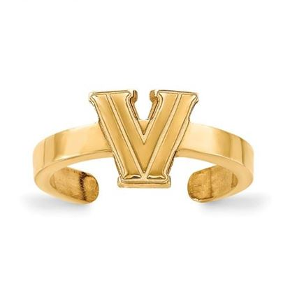 Picture of Villanova University Wildcats Gold Plated Toe Ring