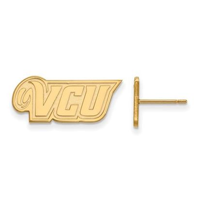 Picture of Virginia Commonwealth University Rams Sterling Silver Gold Plated Extra Small Post Earrings