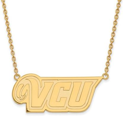 Picture of Virginia Commonwealth University Rams Sterling Silver Gold Plated Large Necklace
