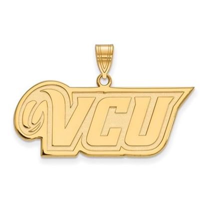 Picture of Virginia Commonwealth University Rams Sterling Silver Gold Plated Medium Pendant