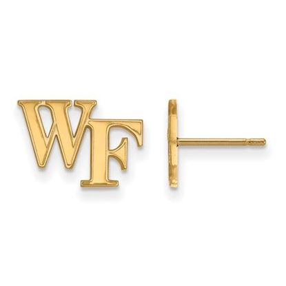 Picture of Wake Forest University Demon Deacons Sterling Silver Gold Plated Extra Small Post Earrings