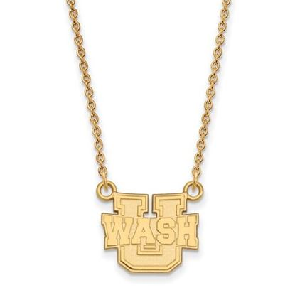 Picture of Washington University St. Louis Bears Bears Sterling Silver Gold Plated Small Necklace
