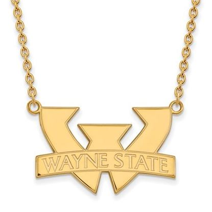Picture of Wayne State University Warriors Sterling Silver Gold Plated Large Necklace