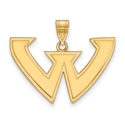 Picture of Wayne State University Warriors Sterling Silver Gold Plated Large Pendant