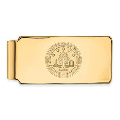 Picture of Western Michigan University Broncos Sterling Silver Gold Plated Crest Money Clip