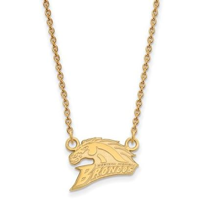 Picture of Western Michigan University Broncos Sterling Silver Gold Plated Small Necklace