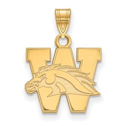 Picture of Western Michigan University Broncos Sterling Silver Gold Plated Small Pendant