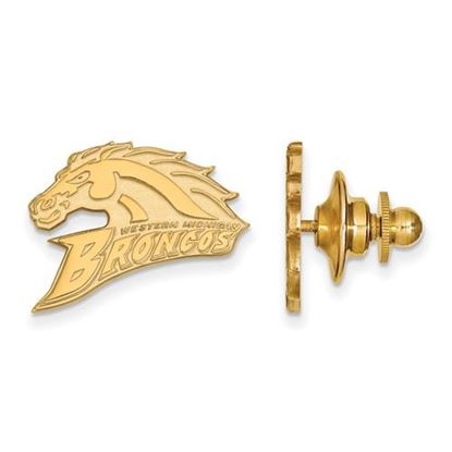Picture of Western Michigan University Broncos Sterling Silver Gold Plated Lapel Pin