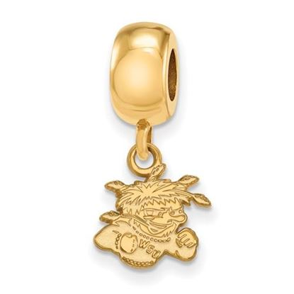 Picture of Wichita State University Shockers Sterling Silver Gold Plated Extra Small Bead Charm