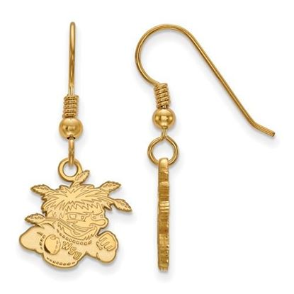 Picture of Wichita State University Shockers Sterling Silver Gold Plated Small Dangle Earrings