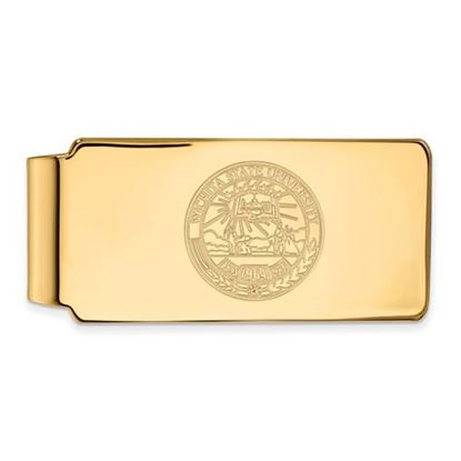 Picture of Wichita State University Shockers Sterling Silver Gold Plated Crest Money Clip
