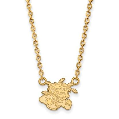 Picture of Wichita State University Shockers Sterling Silver Gold Plated Small Necklace