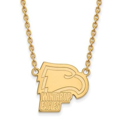 Picture of Winthrop University Eagles Sterling Silver Gold Plated Large Necklace