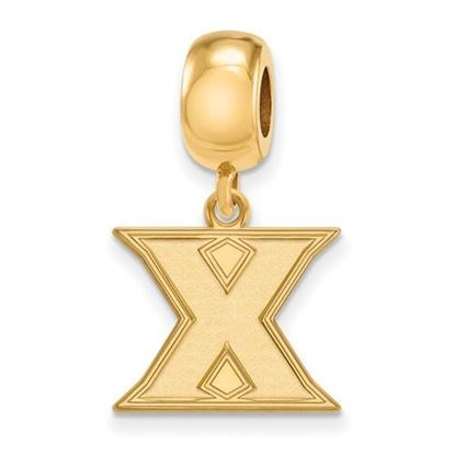 Picture of Xavier University Musketeers Sterling Silver Gold Plated Small Dangle Bead