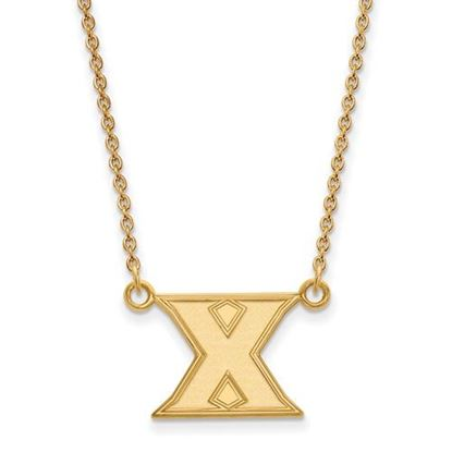 Picture of Xavier University Musketeers Sterling Silver Gold Plated Small Necklace