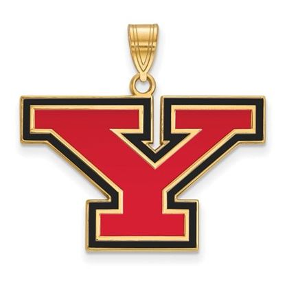 Picture of Youngstown State University Penguins Sterling Silver Gold Plated Large Enameled Pendant
