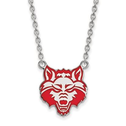 Picture of Arkansas State University Red Wolves Sterling Silver Enameled Large Necklace