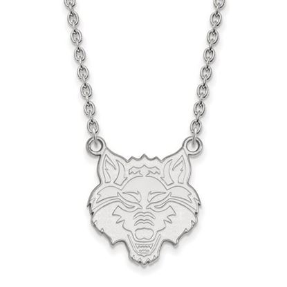 Picture of Arkansas State University Red Wolves Sterling Silver Large Necklace