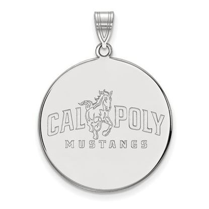 Picture of California Polytechnic State University Mustangs Sterling Silver Extra Large Disc Pendant