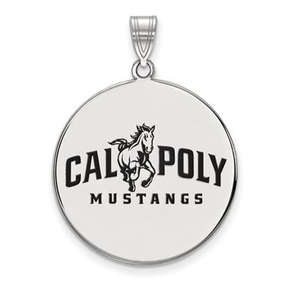 Picture of California Polytechnic State University Mustangs Sterling Silver Extra Large Enameled Disc Pendant