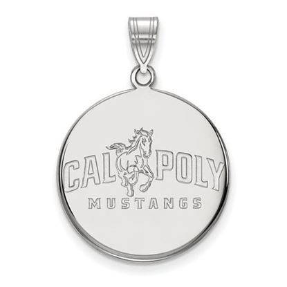 Picture of California Polytechnic State University Mustangs Sterling Silver Large Disc Pendant