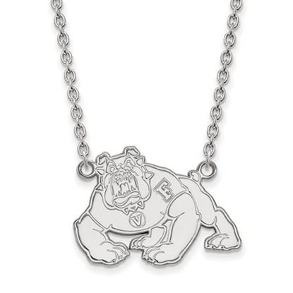 Picture of California State University Fresno Bulldogs Sterling Silver Large Necklace