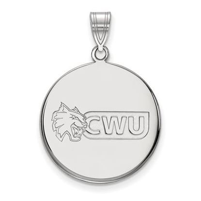 Picture of Central Washington University Wildcats Sterling Silver Large Disc Pendant