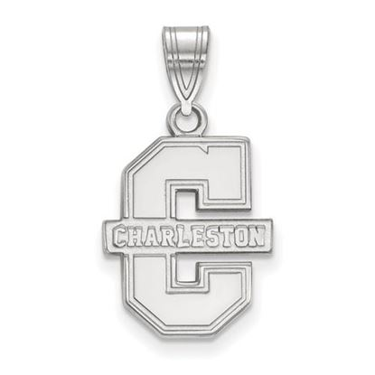 Picture of College of Charleston Cougars Sterling Silver Medium Pendant