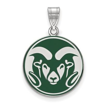 Picture of Colorado State University Rams Sterling Silver Enameled Large Pendant