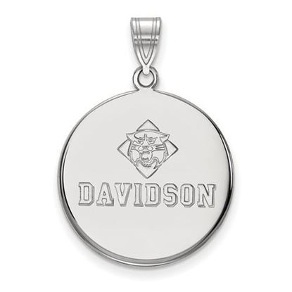 Picture of Davidson College Wildcats Sterling Silver Large Disc Pendant