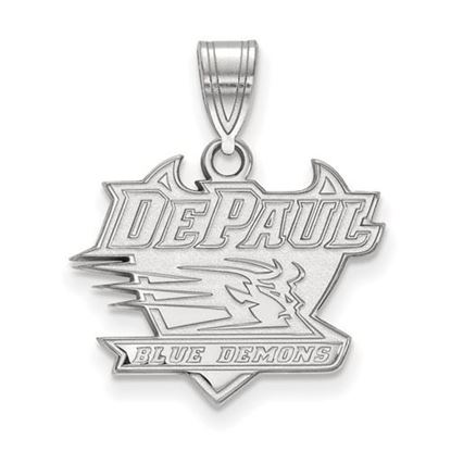 Picture of DePaul University Blue Demons Sterling Silver Medium Pendant