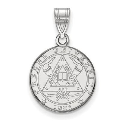 Picture of Drexel University Dragons Sterling Silver Medium Crest Pendant