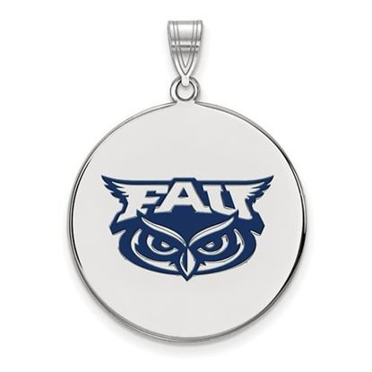 Picture of Florida Atlantic University Owls Sterling Silver Extra Large Enameled Disc Pendant
