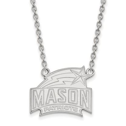 Picture of George Mason University Patriots Sterling Silver Large Necklace