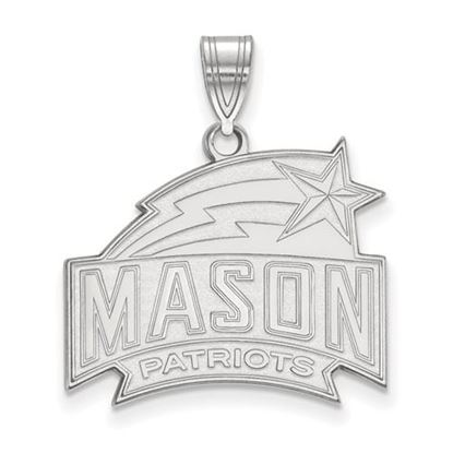 Picture of George Mason University Patriots Sterling Silver Large Pendant