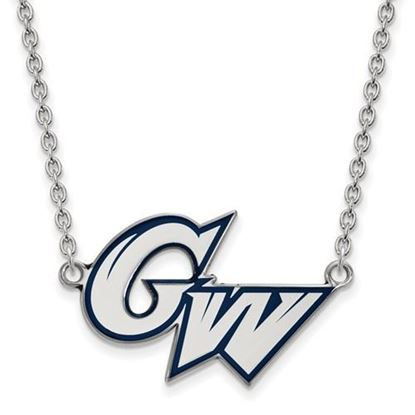 Picture of The George Washington University Colonials Sterling Silver Large Enameled Necklace