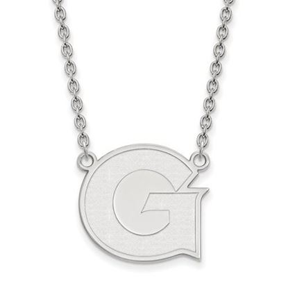 Picture of Georgetown University Hoyas Sterling Silver Large Necklace
