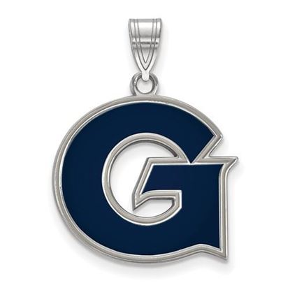 Picture of Georgetown University Hoyas Sterling Silver Large Enameled Pendant