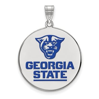 Picture of Georgia State University Panthers Sterling Silver Extra Large Enameled Disc Pendant