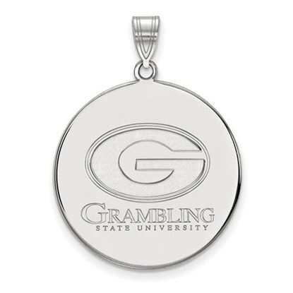 Picture of Grambling State University Tigers Sterling Silver Extra Large Disc Pendant
