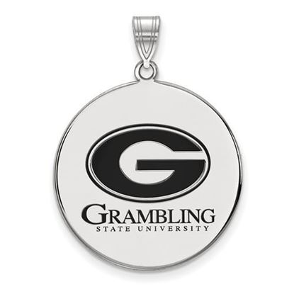 Picture of Grambling State University Tigers Sterling Silver Extra Large Enameled Disc Pendant