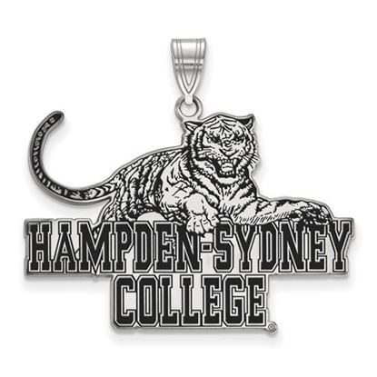 Picture of Hampden-Sydney College Tigers Sterling Silver Extra Large Enameled Pendant