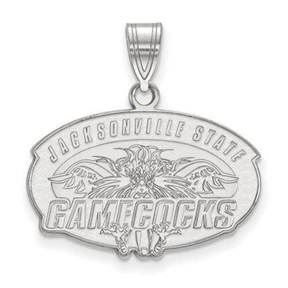 Picture of Jacksonville State University Gamecocks Sterling Silver Medium Pendant