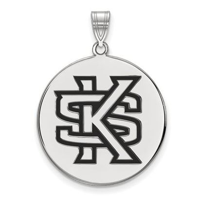 Picture of Kennesaw State University Owls Sterling Silver Extra Large Enameled Disc Pendant