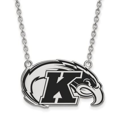 Picture of Kent State University Golden Flashes Sterling Silver Large Enameled Necklace