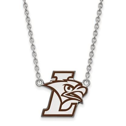 Picture of Lehigh University Mountain Hawks Sterling Silver Large Enameled Necklace