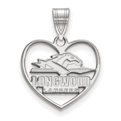 Picture of Longwood University Lancers Sterling Silver Heart Pendant